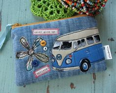 Handmade fabric coin purse campervan pink folksy | Fabric Crafts | Popular Crafts | Craft Juice