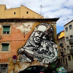 C215 street art Lisbon || A comprehensive street art guide of Lisbon, Portugal - Read it here: http://www.blocal-travel.com/street-art/lisbon-street-art-guide/
