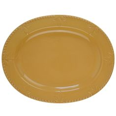 """Sorrento Oval 14"""" Platter in Wheat Gold by Signature Housewares #SignatureHousewares"""
