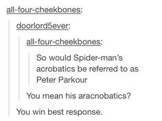 Peter Parkour and aracnobatics