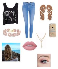 """""""Untitled #185"""" by chase-banner on Polyvore featuring Paige Denim, Billabong, Agent 18, BaubleBar and Lime Crime"""