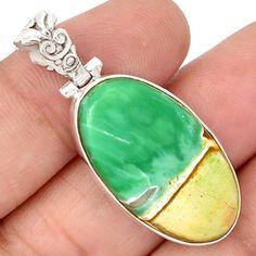 Australian-Variscite-925-Sterling-Silver-Pendant-Jewelry-SP183595