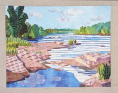 River Bank, Summertime by Carol Anne Grotian
