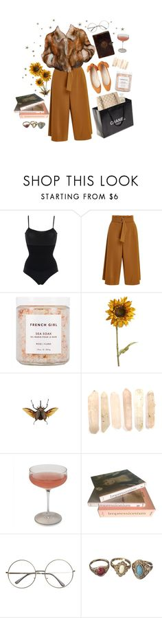 """""""foreign girls"""" by idaelinas ❤ liked on Polyvore featuring Wolford, A.L.C., Chanel, French Girl, Pier 1 Imports, Schott Zwiesel, Taschen, vintage, artsy and warm"""