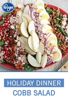 Food Recipes for Dinner, Desserts, Appetizers & More - Kroger Hard Boiled, Boiled Eggs, Simple Salads, Vinaigrette Dressing, Pomegranate Seeds, Holiday Dinner, Pecans, Goat Cheese, Healthy Choices