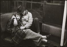 sleeping couple on train in New York 1950's