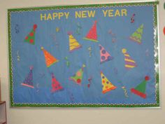 new years bulletin board ideas | this is a bulletin board i did for new year s it was