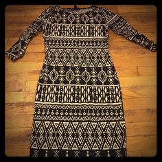 Aztec Dress Fits like a glove. Beautiful dress to wear to any outing. Forever 21 Dresses