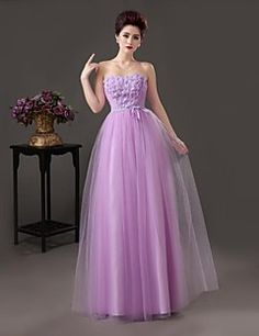 Formal Evening Dress - As Picture A-line Sweetheart Floor-length Satin
