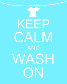 Keep Calm and Wash On Laundry Room Art Digital by MyPoshDesigns,