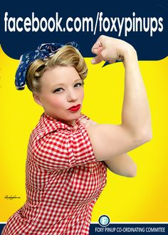 Looking to become a real life Rosie the Riveter or any other Pinup Girl? Look no further than Kansas City's own pinup photographer, Hilary Hope Photography: Foxy Pinups. www.facebook.com/foxypinups