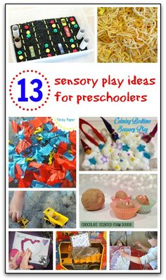 13 sensory play ideas for preschoolers {Weekly Kids' Co-op} - Gift of Curiosity. Pinned by Generation iKid Sensory Tubs, Sensory Rooms, Baby Sensory, Sensory Activities, Infant Activities, Sensory Play, Preschool Activities, Preschool Learning, Learning Games