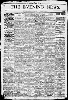 DOUGLAS COUNTY- Lawrence, Kansas - 1883-84 - The Daily Morning Tribune - Google News Archive Search