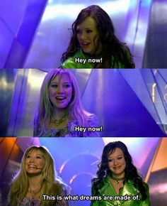 my childhood literally summed up in this picture. Then my life was pretty much ruined when I found out the other girl was also Hillary Duff just in a wig.
