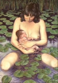 The Water Birth, by Adrian Baker  Beautiful birth art!