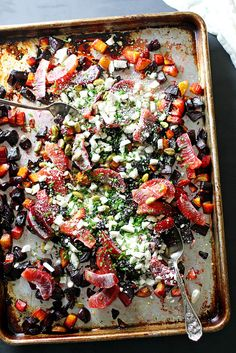 Roasted Beet and Orange Salad with Pistachios and Feta | Girl Versus Dough