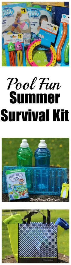 Create your own Pool Fun Summer Survival Kit. Find out what a swim team mom packs in her kit! #sponsored #DGSavings