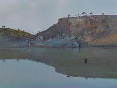Arthur Boyd Evening star reflected on river 1982 Landscape Art, Landscape Paintings, Landscapes, Australian Painting, Australian Artists, Arthur Boyd, Abstract Oil, Ponds, Installation Art