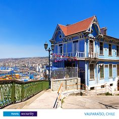 The blue house by Pierre-Yves Babelon on - Colorful house in Valparaiso, Chile with view on the port Cities In South America, Latin America, Vacation Destinations, So Little Time, The Good Place, Beautiful Places, Amazing Places, The Best, Places To Go