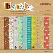 Basik&K Papier pakket 24 vel 15,2x15,2cm
