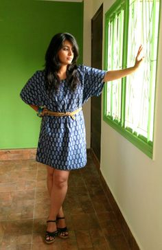 Fashionable much? Indian blue cotton dress, with a kaftan fall and block printing. Price: Rs 2000 Tan brown braided suede double belt with brass detailing. Price: Rs 2300 For details of the products and to place an order, you can whatsapp on 9999968917, +34630292108 or email at veralikasingh@hotmail.com or maddy_rawat@hotmail.com.