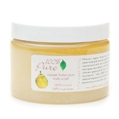 100% Pure Body Scrub  Organic Honey Pear Juicy  by 100 Percent Pure