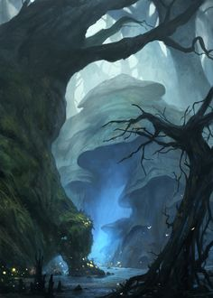 "Druids Trees:  ""Enchanted #Forest,"" by gerezon, at deviantART."