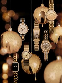 Christmas watch still life  Inspire Magazine Jewellery Editor: Bettina Vetter  Photographer: David Newton