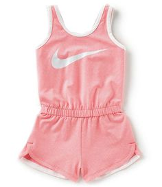 Nike Little Girls Dri-FIT Sports Essentials Romper - Sandra Cute Girl Outfits, Little Girl Outfits, Kids Outfits Girls, Toddler Girl Outfits, Little Girl Fashion, Baby Nike Outfits, 2t Girl Clothes, Girls Fashion Clothes, Baby Kids Clothes