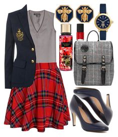 """Preppy"" by deedee-pekarik ❤ liked on Polyvore featuring rag & bone, Victoria's Secret, Polo Ralph Lauren, Tahari, Tory Burch, Fornash, NARS Cosmetics and preppy"