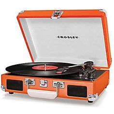 Crosley Radio Cruiser Vinyl Record Player, Orange