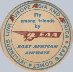 East African Airways Beer Coaster