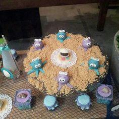 #docinho da mesa decorada com o tema #fundodomar #Pequenasereia da Marcia Colonese e festa realizada no #buffetminiland #Minilandbuffet 🎈 🎈