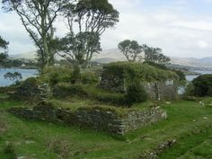 The ruins of Dunboy Castle, County Cork, the stronghold of Donal Cam O'Sullivan Beare, Chief of Dunboy, The Last Prince of Ireland.