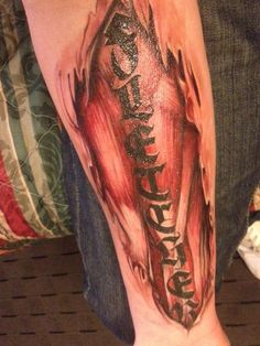 flaming metal muscle tatoo - Google Search