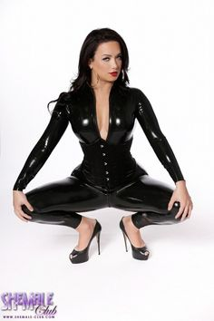 Pvc Rubber Shemales Trannies 43