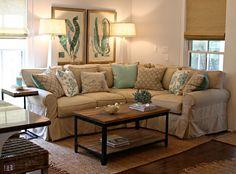 Coastal living room by   Nest Interior Design by Andrea Maulden