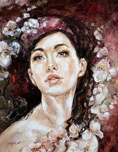 Painting Kobieta - Artist Elżbieta Brożek