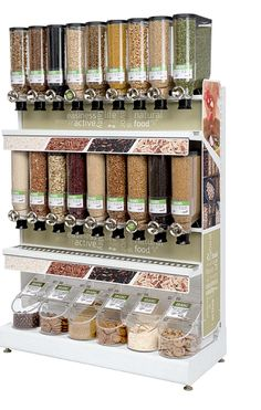 Lets help make that a little easier with this BulkShop Solutions Kit. Bulk Store, Zero Waste Store, Medicine Organization, Store Layout, Camper Hacks, Coffee Shop Design, Cool Kitchen Gadgets, Candy Shop, Kitchen Layout