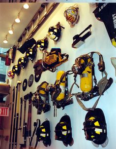 Wall Display at the FDNY Fire Zone in Rockefeller Center. www.fdnyfirezone.org