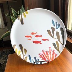 La Marina Coastal Matte Melamine Platter with fish coral seaweed - Hobbies paining body for kids and adult Ceramic Clay, Ceramic Painting, Ceramic Pottery, Pottery Painting Designs, Paint Designs, Cute Crafts, Diy Crafts, Hawaiian Decor, Pottery Animals
