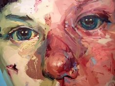 Jenny Saville - love, love the colors, maybe I can get close