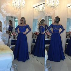 2016 New Arrival Beaded Crystals Prom Dresses, Sexy Formal Dresses,Lace Party Dress,Backless Prom Dresses Custom Made