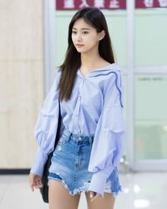 TWICE TZUYU arrives at Seoul Gimpo International Airport after finishing the Japanese schedule on the afternoon of the Nayeon, Kpop Fashion, Korean Fashion, Airport Fashion, Fall Fashion, Style Fashion, Kpop Outfits, Cute Outfits, Work Outfits