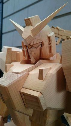 Gundam Wood Art - On Display (Tokyo, Japan)
