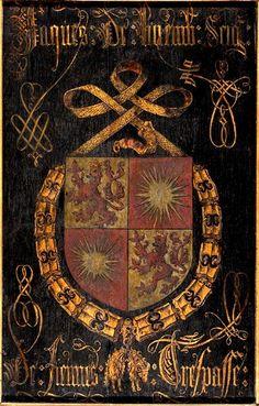 Golden Fleece Order Stall-plate of 84. Jacques de Luxembourg, Seigneur de Fiennes (1443-1517), Sint-Rumoldus Kerk Mechelen, by Pierre Coustain, 1491.