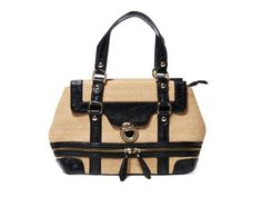 "What an awesome summer bag!  Imoshion ""Sloane"" Woven Raffia Satchel"