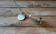 """Edelstahl-Halskette Flasche  """"i will hold you in my heart until i hold you in heaven"""" von RainbowFairground auf Etsy"""