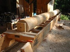 Round Post Joinery, Part 2 - Timber Frame Forums Outdoor Buildings, Wood Joinery, Wood Shed, Natural Homes, Into The Woods, Live Edge Wood, Natural Building, Post And Beam, Earthship