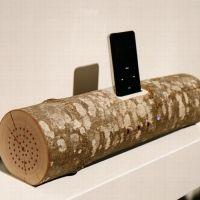 Wooden Log iPod Dock... I love it!